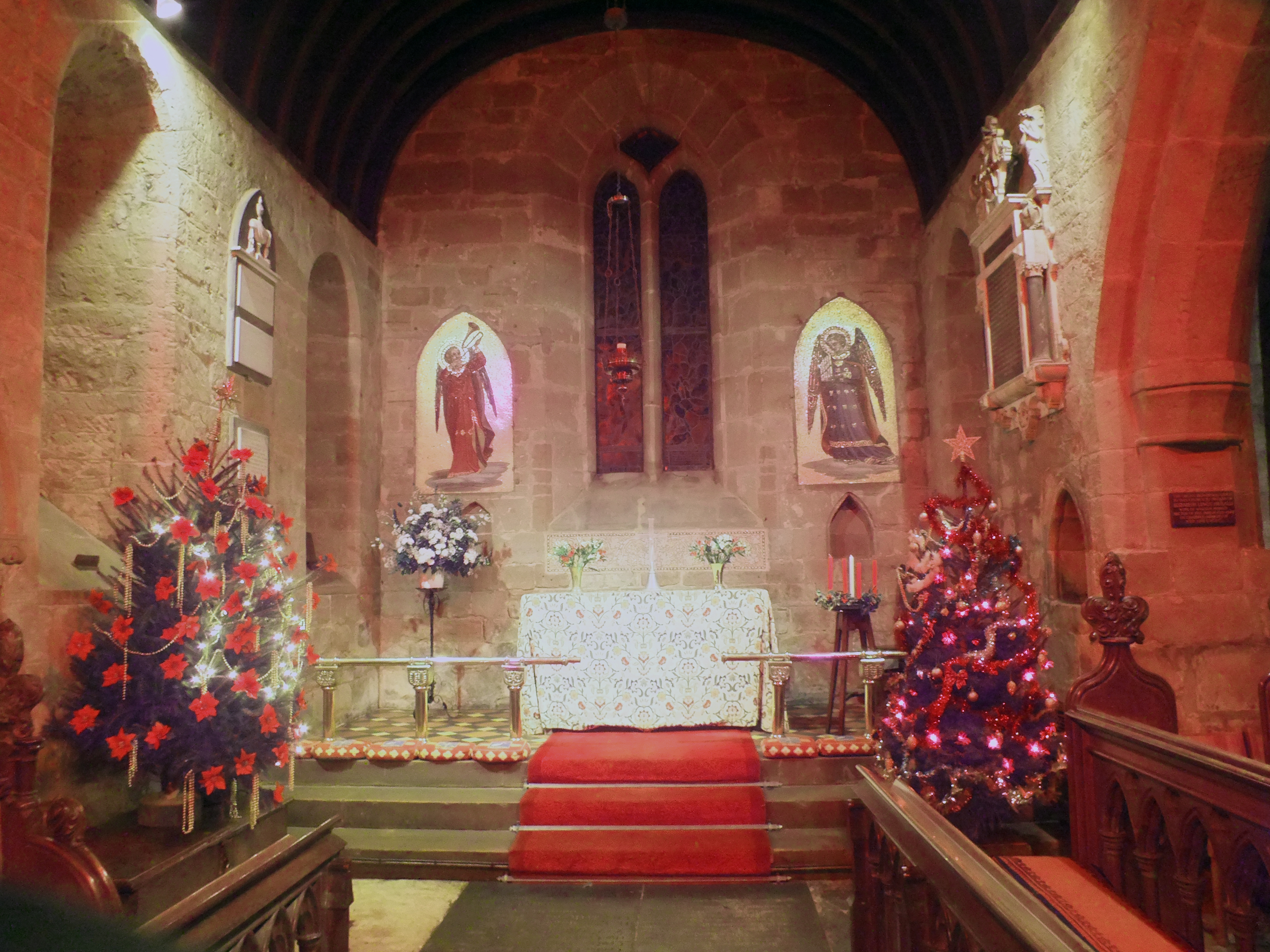 St Martin's Church at Christmas 2016.